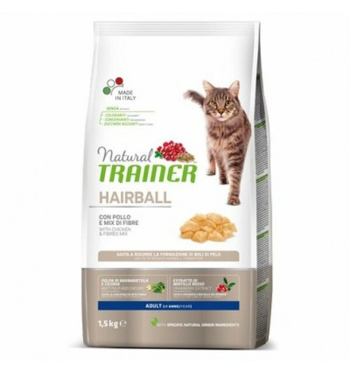Natural Trainer Adult Hairball Control 300gr con pollo fresco