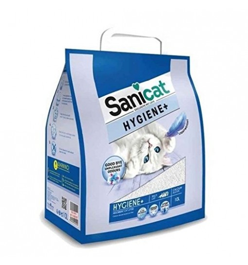 lettiera Per gatti Sanicat Hygiene + White 10 LLight weight