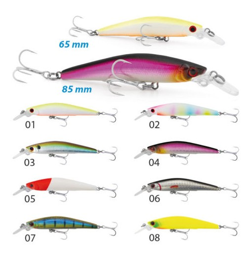 Sea Bass Killer 85 mm 8,5 gr Testa rossa colore 05 Sinking Seika