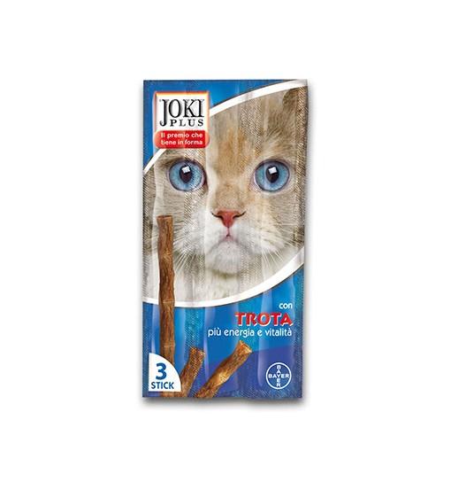 Sneck per gatti Joki Plus Trota più energia e vitalità 3 Stick