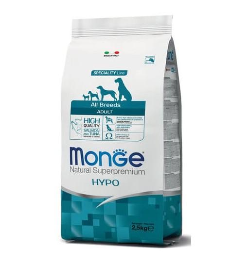 Monge adult all breeds hypoallergenic salmone e tonno 2,5 kg