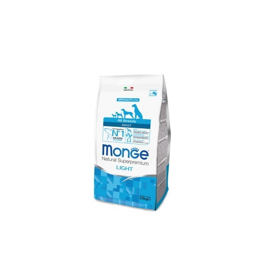 MONGE ADULT ALL BREEDS LIGHT SALMONE 2,5 kg