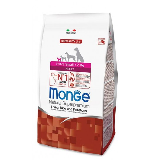 MONGE ADULT EXTRA SMALL AGNELLO RISO E PATATE 2,5 kg