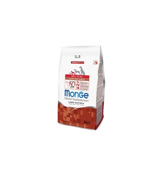Monge Mini puppy e junior Agnello e riso Patate 800 gr