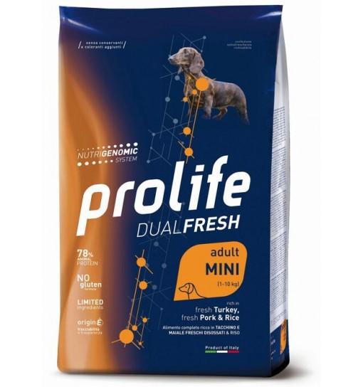 Prolife Dualfresh adult mini Tacchino e maiale e riso 600 gr