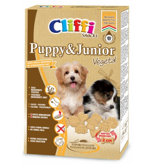 BISCOTTI CLIFFI PUPPY & JUNIOR VEGETAL 300 GR