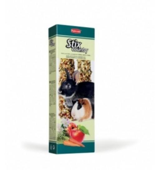 Stick con frutta e ortaggi per conigli nani Stix Country Padovan 100 gr
