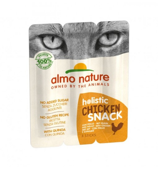 Snack per Gatti Almo nature Holistic Pollo sticks 3 x 10 gr