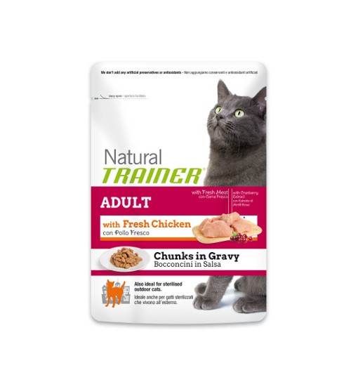 NATURAL TRINER EXIGENT CAT CON MANZO & POLLO FRESCO 300 GR