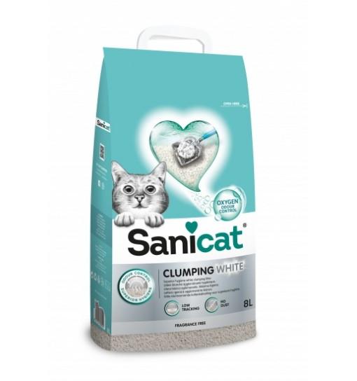 Sanicat Clumping white lettiera per gatti agglomerante 8 litri