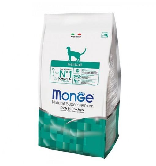 Mangime per gatti Monge Hairball Pollo 400 gr
