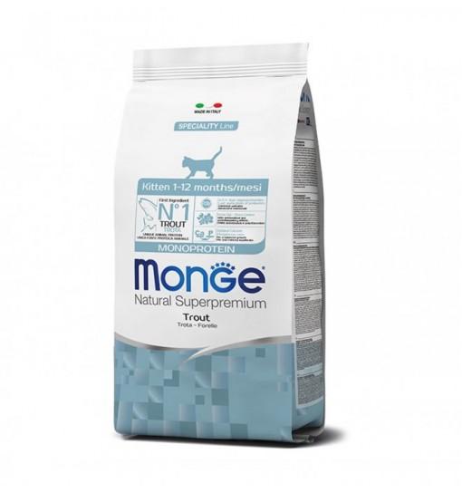 Mangime per gattini Monge Kitten monoproteico alla trota 400 gr