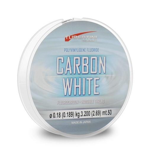 Carbon White 0,10 mm 50 mt fluorocarbon Tubertini