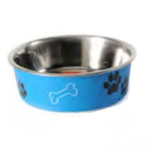 Ciotola Acciaio c/ring Azzurra cm 14