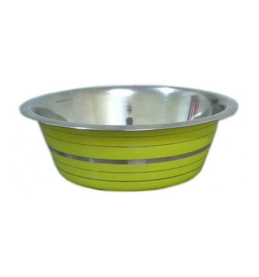 Ciotola in acciaio line verde cm 25