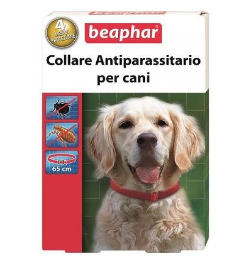 Collare Antiparassitario per cani Beaphar rosso