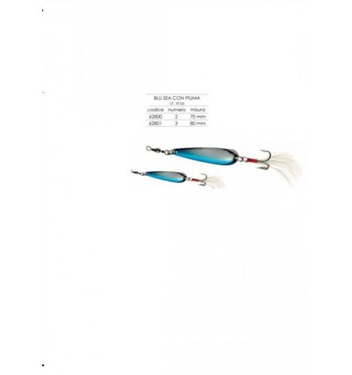 Cucchiaino Blu sea con piuma Mis 2 70 mm Expert Predator