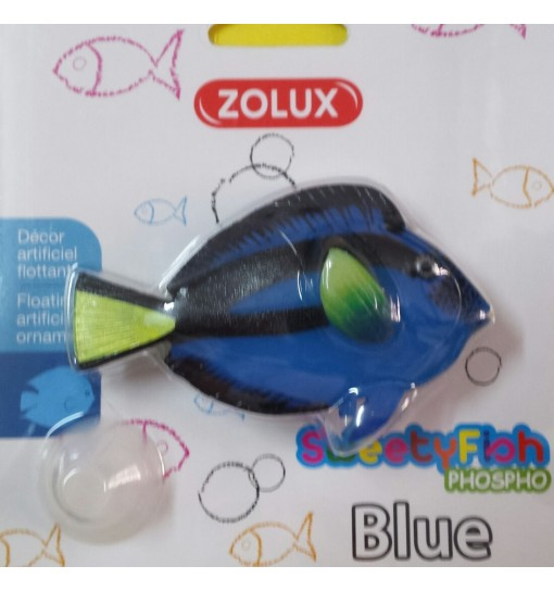 Decorazione Pesce Blue Sweetyfish phospho zolux dori