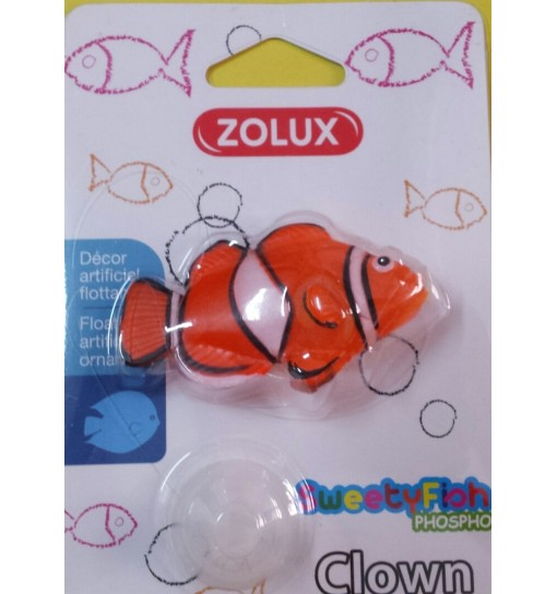Decorazione Pesce Clown Sweetyfish phospho zolux Pagliacio