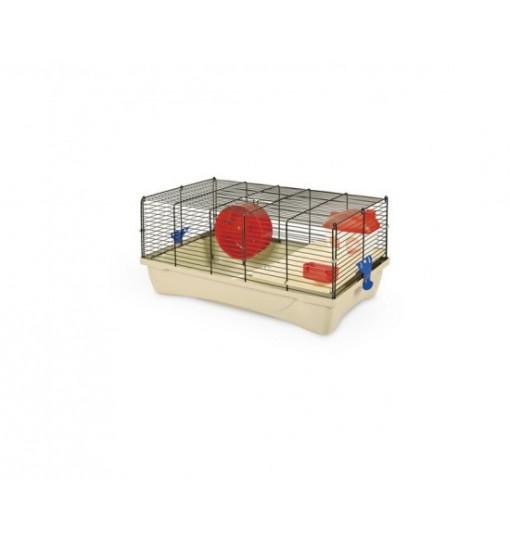 Gabbia per criceti Hamster 10 MPS colore zincata fondo rosso