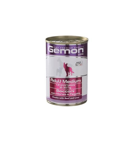 Gemon adult Medium Bocconi con tonno e salmone 415 gr