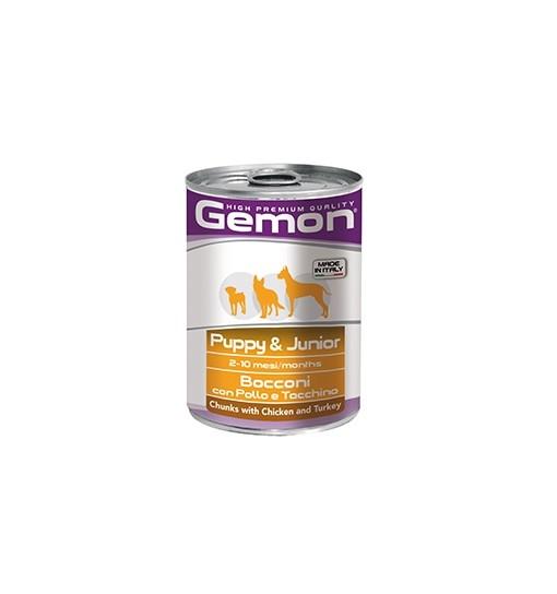Gemon Dog Puppy Junior Pollo Tacchino Bocconi gr 415