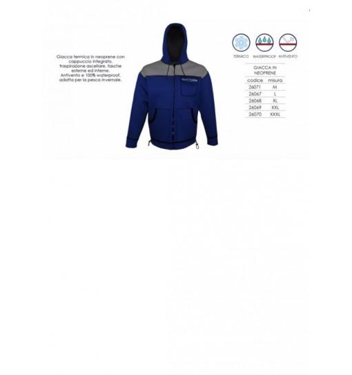 Giacca da caccia in Neoprene impermeabile Blu taglia XL
