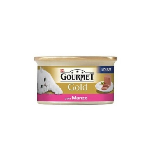 GOURMET GOLD MOUSSE CON MANZO 85 gr