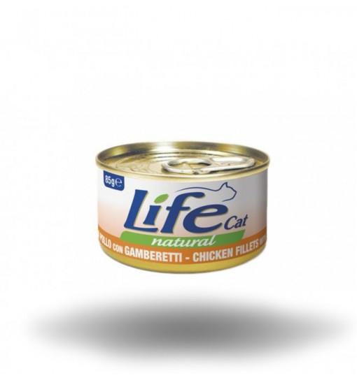Life Gatto naturale Filetti di pollo con Gamberetti 85 gr